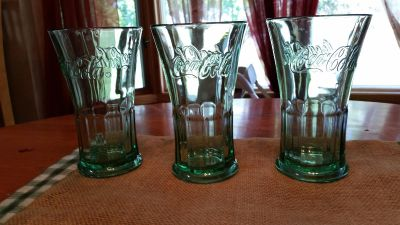 3 cocoa cola glasses from world of coke atl