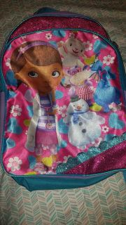 Doc mcstuffins full size backpack Great condition, but does not light up anymore-clean, no tears, or rips