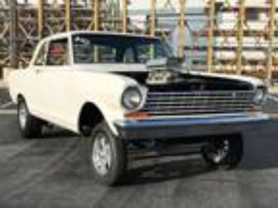 1963 Chevrolet Chevy II Nova Gasser Drag Race
