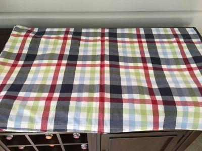 Pottery Barn Kids Plaid Cotton TWIN Duvet Cover (Blue/Red/Green)