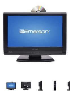 """Emerson 19"""" LCD HDTV / DVD TV Television Player Combo Excellent Condition"""