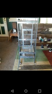 Large bird cage..clean and ready to go