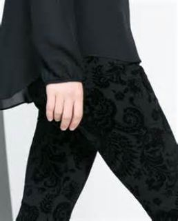 Flocking Pant/ Ladies Denim Pant/ Flocking Jeans