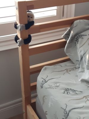 IKEA pine twin bed