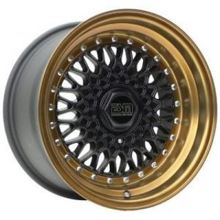 Purchase Matte Black/ Bronze Lip ESM-002R 16x9 +15 5x100 Wheels Rims VW Jetta Golf GTI motorcycle in Northridge, California, United States, for US $795.00