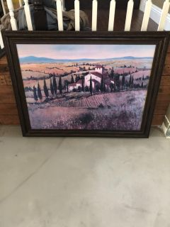 Large Winery Painting.