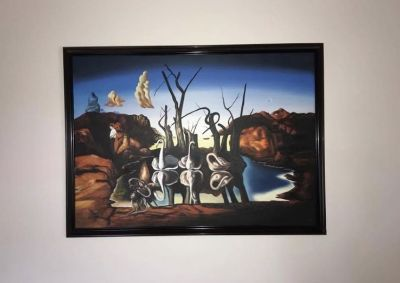 "Salvador Dali Replica Oil Painting. ""Swans Reflecting Elephants"" (1937)"