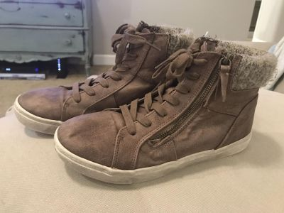 Adorable Brown Suede Moto Lace Boots (Brand: Curfew) (Women s Size so cute on!