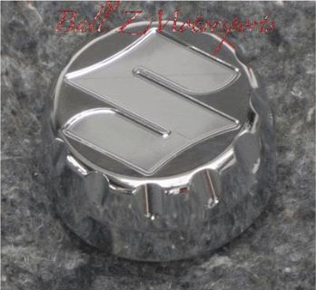 "Buy GSXR 1000 Chrome Engraved ""S"" Ball Cut Edges Yoke/Stem Cap 05-06-07-08 2005-2008 motorcycle in Plattsburg, Missouri, US, for US $25.99"