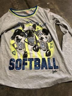 Justice size 16 SOFTBALL . Top