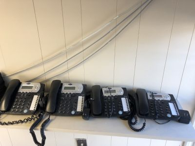 4 used 2 line AT&T office phones. $80 Shipped