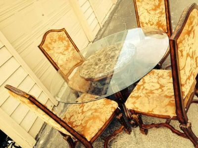 $400, table with four chair