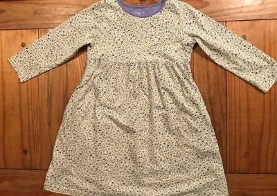 Size 5 Lands End vvguc-small purple/green floral pattern