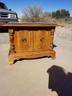 Early American End Table with Storage