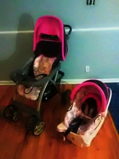 Saunter baby stroller and carseat set