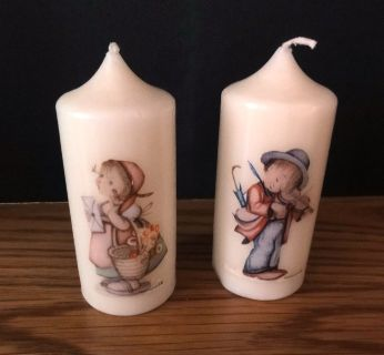 M. J. Hummel Set of 2 Candles made in West Germany 4 tall