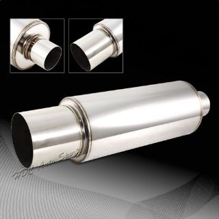 """Find N1 4"""" Flat Tip Stainless Steel Weld On Exhaust Muffler 2.5"""" Inlet Universal 2 motorcycle in Walnut, California, United States"""
