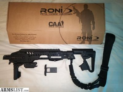 For Sale: CAA Roni G2 Glock Pistol to Carbine Conversion Kit