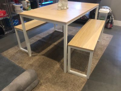 Small kitchen table with benches