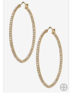 Stella & Dot gold Adelaide hoops - new with tags