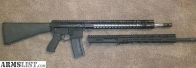 For Sale: 2 Custom AR15s 22 nosler and 5.56 with side charging uppers