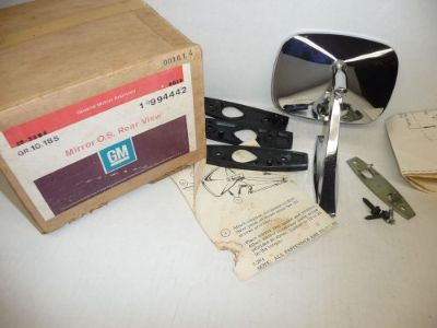 Purchase NOS GM OEM 1974 Nova Monte Carlo Outside Rear View Mirror RH 994442 motorcycle in Livonia, Michigan, United States, for US $119.99