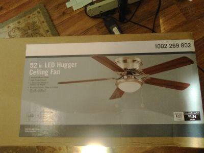 New 52 inch LED Hugger ceiling fan