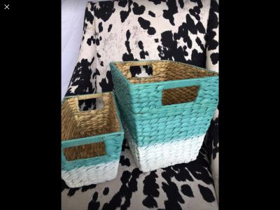 Set of Baskets for storage organize organization bathroom bedroom closet container bin Pottery Barn Moving Sale! Pickup Today! Brand New