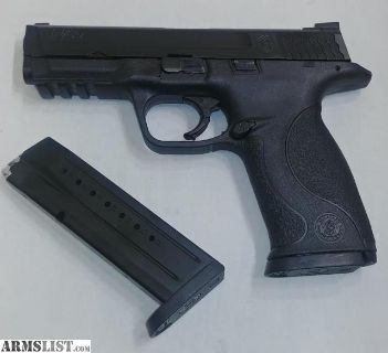For Sale: SMITH & WESSON MODEL M&P 9, MATTE BLACK, SEMI-AUTOMATIC, 9 MM 2-MAGS
