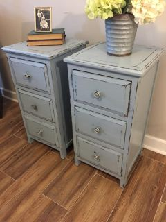 blue accent tables