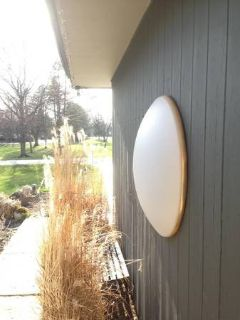 Vintage ROUND ceiling lights lamp sconce OVERSIZED / 3+ feet