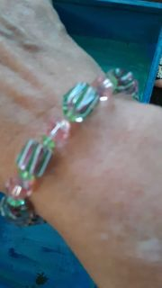 Pretty Handmade GLASS Bead Bracelet