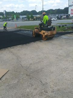 Asphalt paving and striping