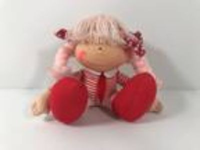 Vintage Emma N Friends Doll Toy 1982 Applause Pink Red 4.5""