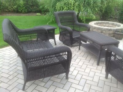 Outdoor Wicker Patio Set