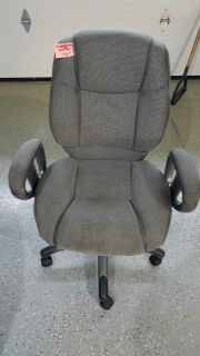 Gray, Adjustable, Hydraulic Office Chair