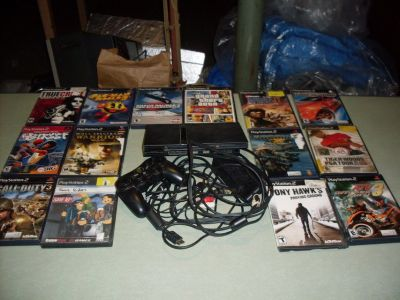 playstation 2 and 14 games
