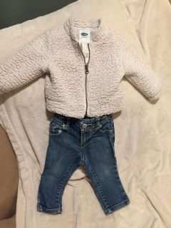 Old navy 12-18 month jeans and jacket