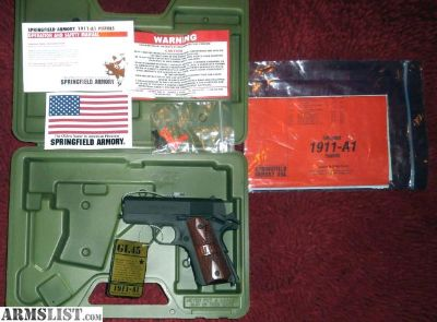 For Sale: Springfield 1911 A1 G.I. Micro