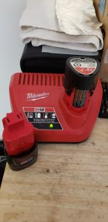 Milwaukee M12 battery/batteries + charger