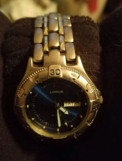 LORUS, Stainless Steel, water resistant, sports watch