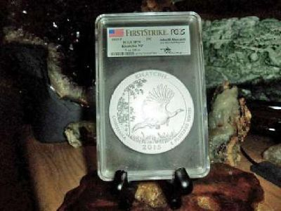 2015-P F/S PCGS SP 70 KISATCHIE NATIONAL PARK 5 oz. SILVER QUARTER with JOHN M