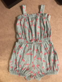 Baby Gap Flamingo Romper Girls Size 2 Yrs Super Great Condition $2.00
