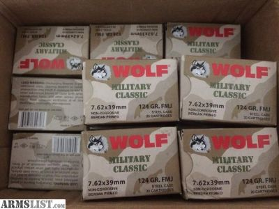 For Sale/Trade: 440 rounds Wolf 7.62x39- Trade for 308