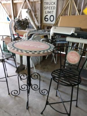 Coca-Cola table w/ two chairs