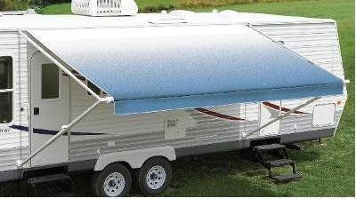 Carefree Fiesta Ocean Blue 21' Vinyl Roller Assembly RV Canopy Bruised & Reduced - New!