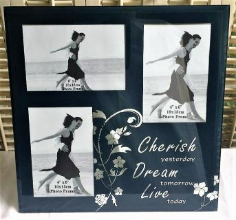 "Cherish Yesterday Dream Tomorrow Live Today Glass Picture Frame 12"" x 12"""