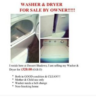 Washer  Dryer For sale PRICE DROP $265