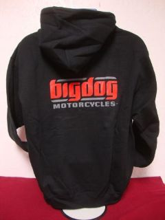 Buy BIG DOG MOTORCYCLES LARGE BLACK SWEATSHIRT SIGNATURE LOGO FRONT/BACK DESIGN motorcycle in Lyons, Kansas, United States, for US $29.99
