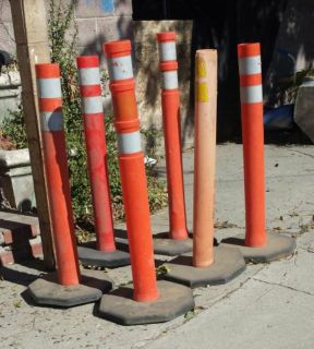 Pole cones construction work safety zone events parking blocking off areas